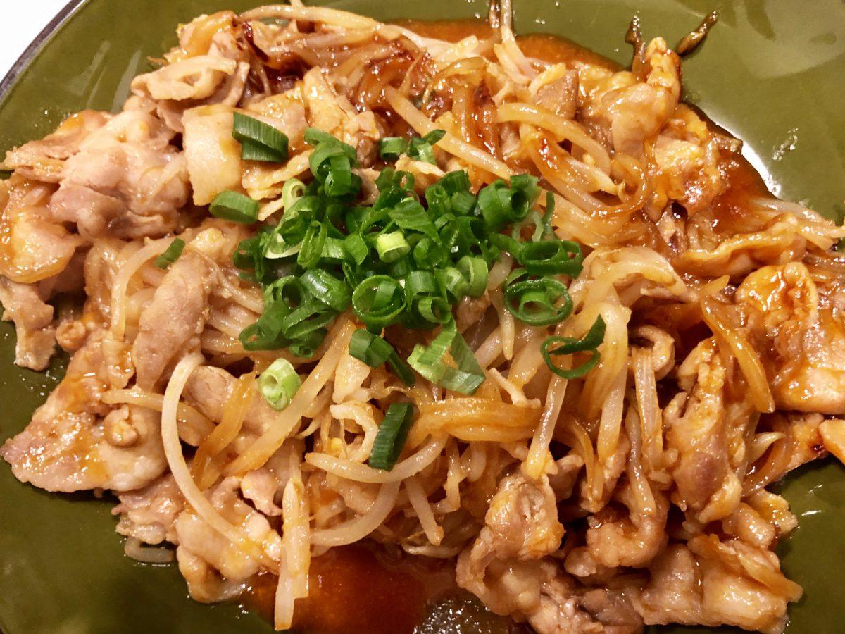 韓国風ピリ辛豚バラ炒め