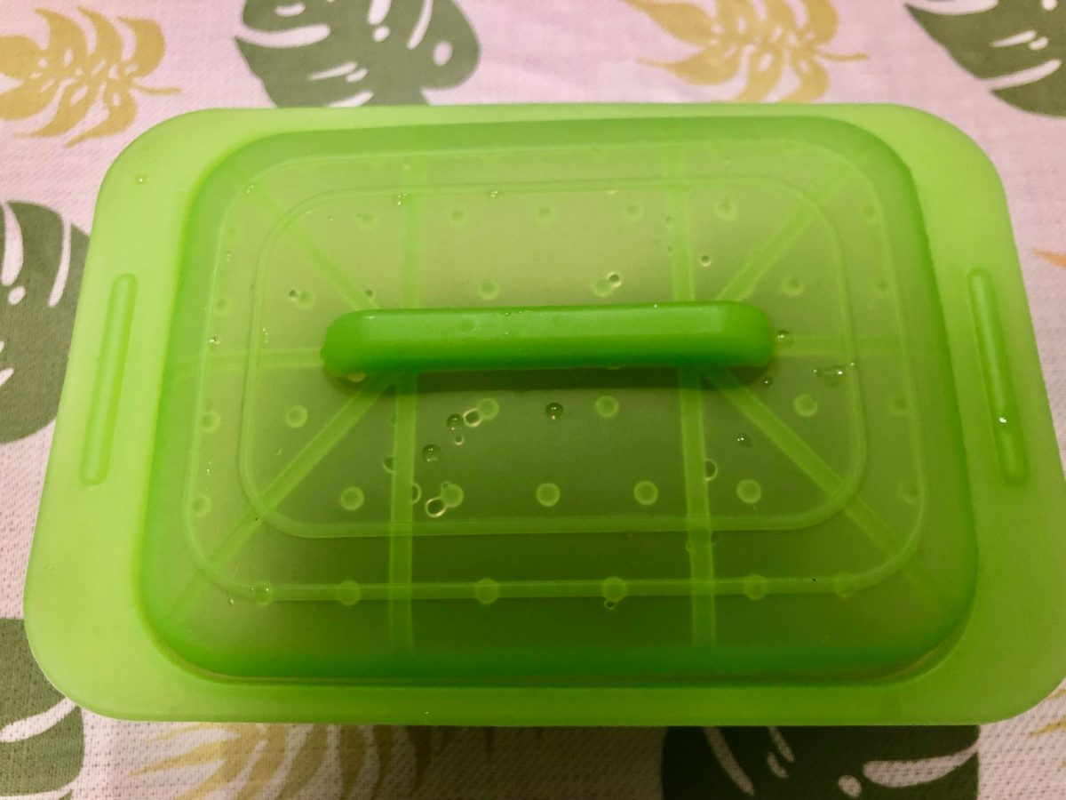 シリコンスチーマー(調理器具)を初めて使いました!